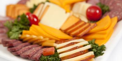 meat and cheese tray for catering