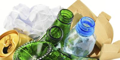 recycling plastic glass metal and paper